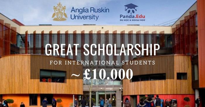 Du học Anh Quốc chọn ngay Anglia Ruskin University - Nhận ngay học bổng trị giá 10.000 bảng