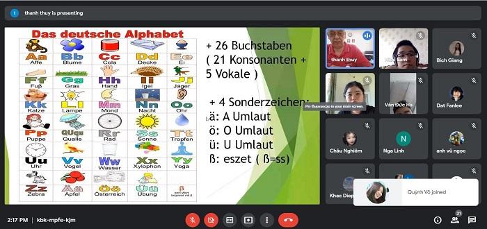 Khai giảng khóa phát âm tiếng Đức online với giáo viên bản địa